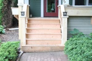 How to Properly build Douglas fir Stairs and install James Hardie Siding