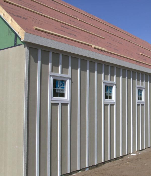 roofing and siding construction of garage