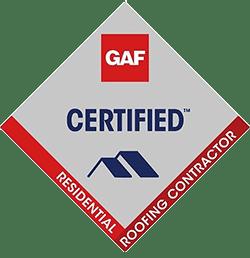 GAF Certified logo for assured roof installation quality