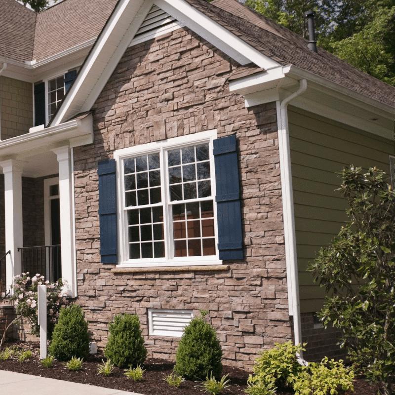 brick siding on home